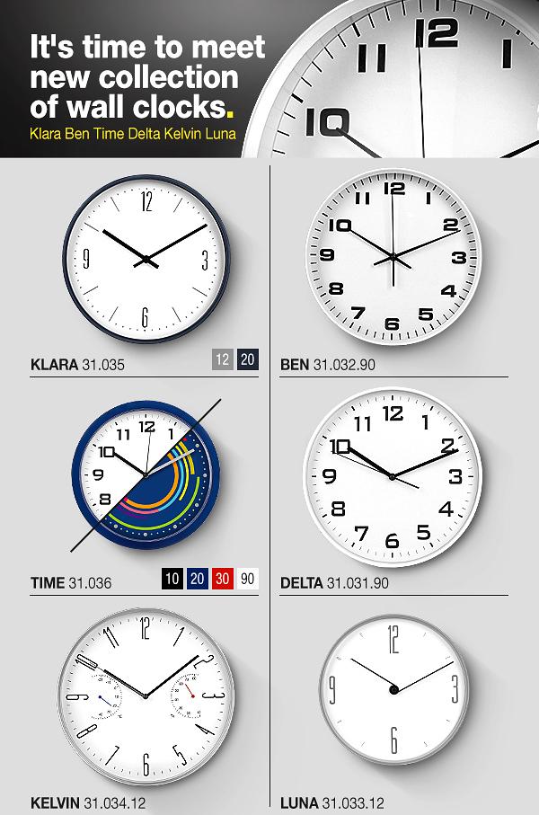 Kolekcija zidnih satova