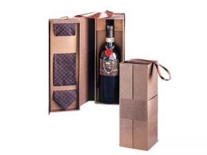 Kutija za vino sa kravatom (bez flaše)