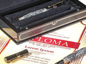Komplet olovka i naliv pero u srebro-patini 585B