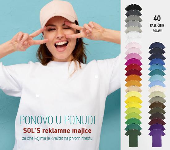 SOL'S reklamne majice
