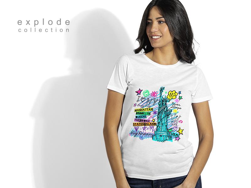 zenska majica sa kolor stampom