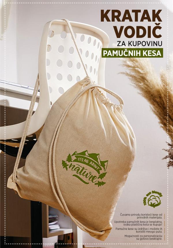 pamucne torbe sa stampom impress