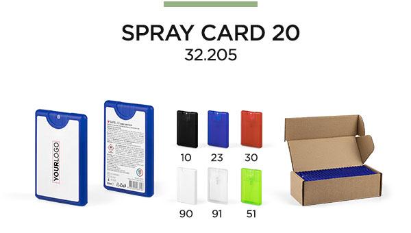 spray card antibakterijske tecnosti impress