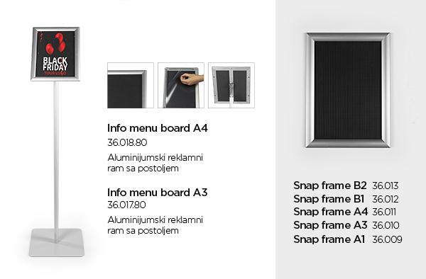 info menu board reklamni pano impress